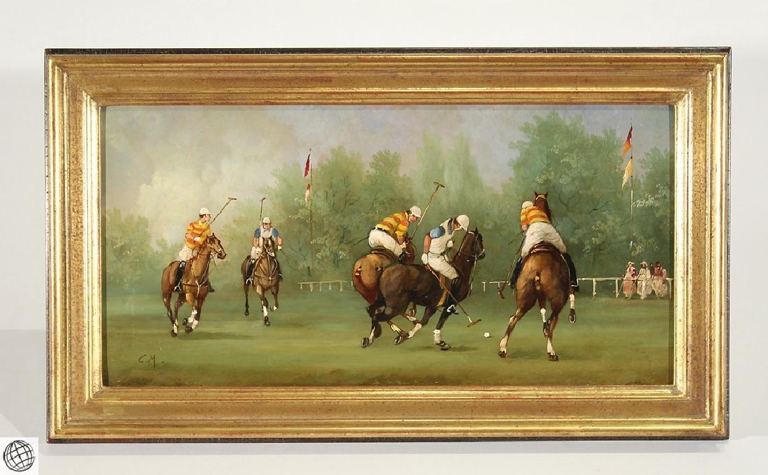 Equestrian Sports MARCO CERI Edwardian Polo Match Oil
