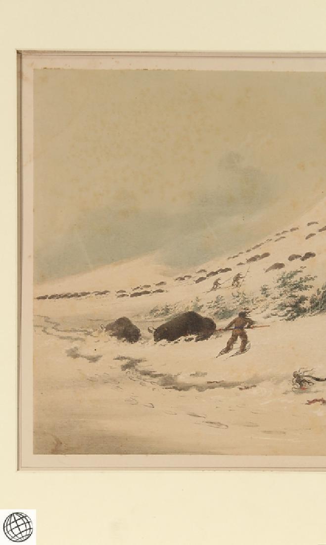 Dying Buffalo Bull GEORGE CATLIN Bohn 1844 Hand Colored - 3