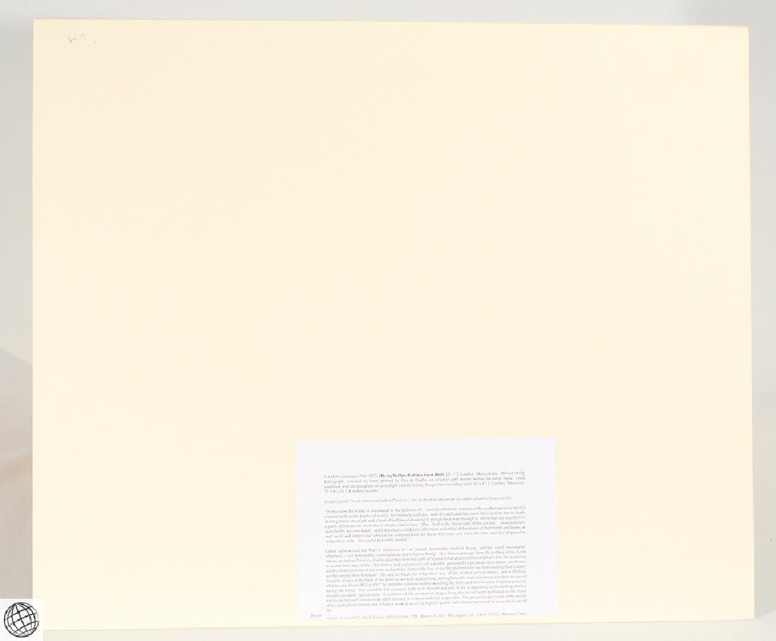 Dying Buffalo Bull GEORGE CATLIN Bohn 1844 Hand Colored - 6