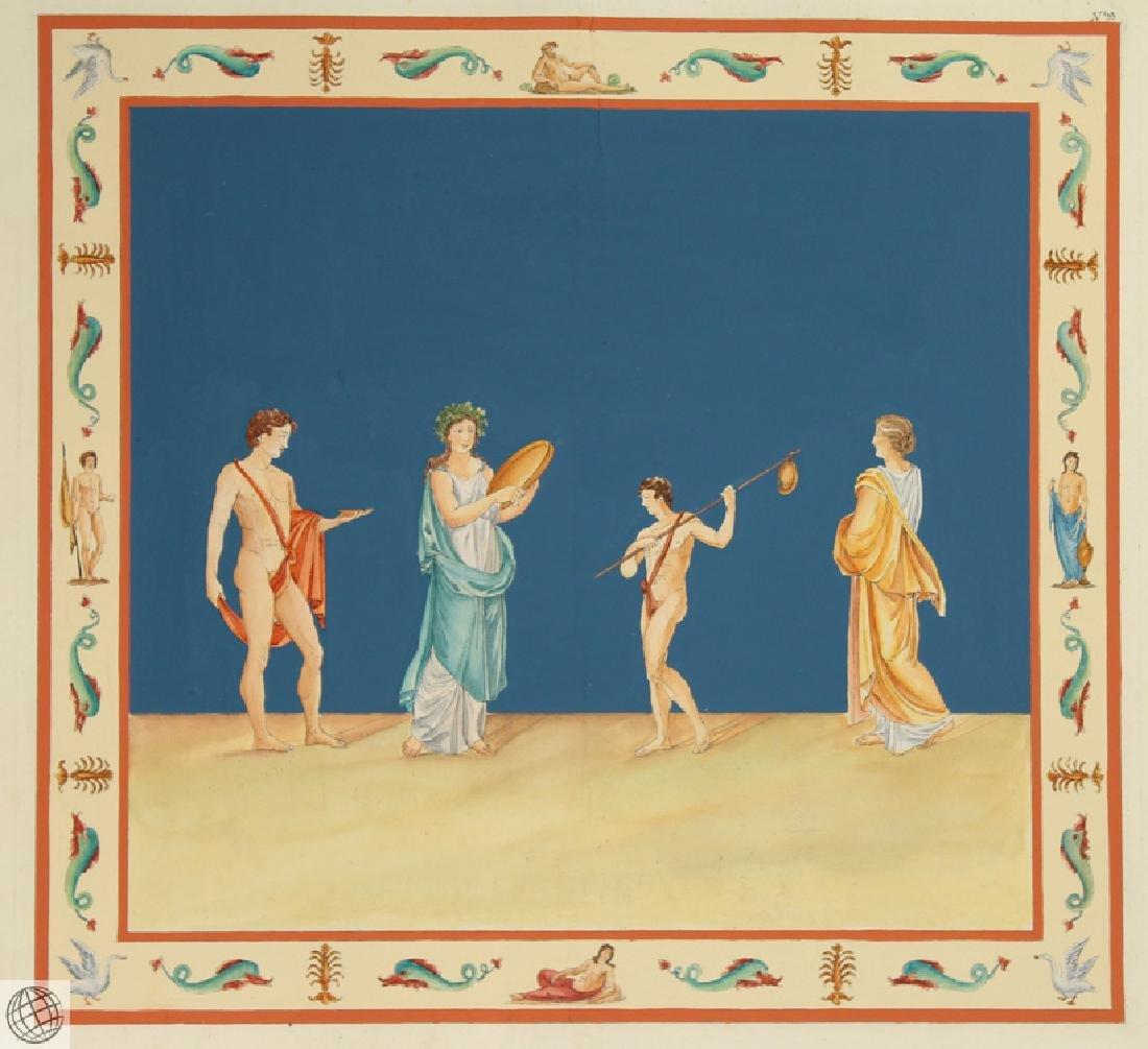 Domus Aureus Fresco MARCO CARLONI Smugliewicz Original - 2