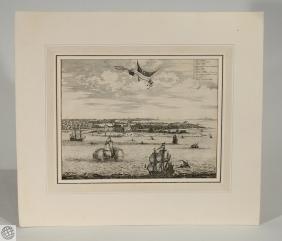 Sinus Omnium Sanctorum JOHN OGILBY Engraving 1671 Bay