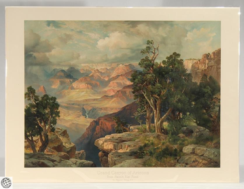 Grand Canyon Arizona THOMAS MORAN Monumental Color