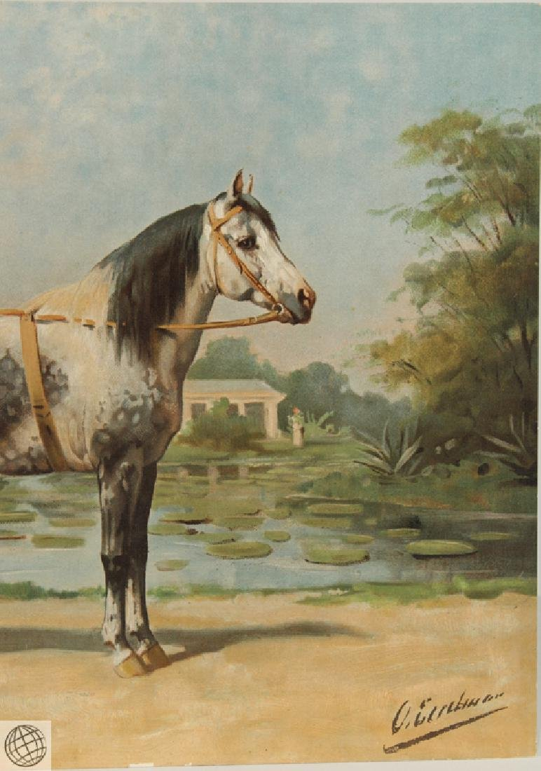 Sandlewood OTTO EERELMAN Color Lithograph Goffart Horse - 4