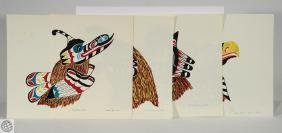 4Pcs First Nations Paintings JAMES MARSHALL SPECK
