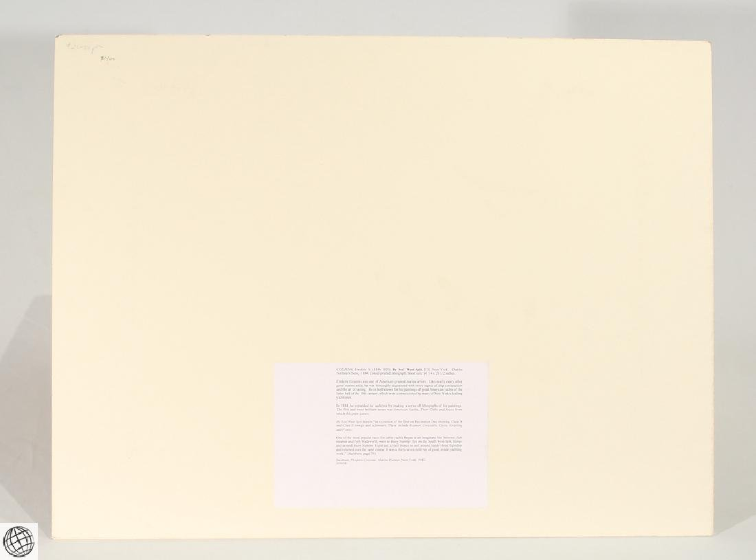 By Sou West Spit New York COZZENS Color Lithograph - 6