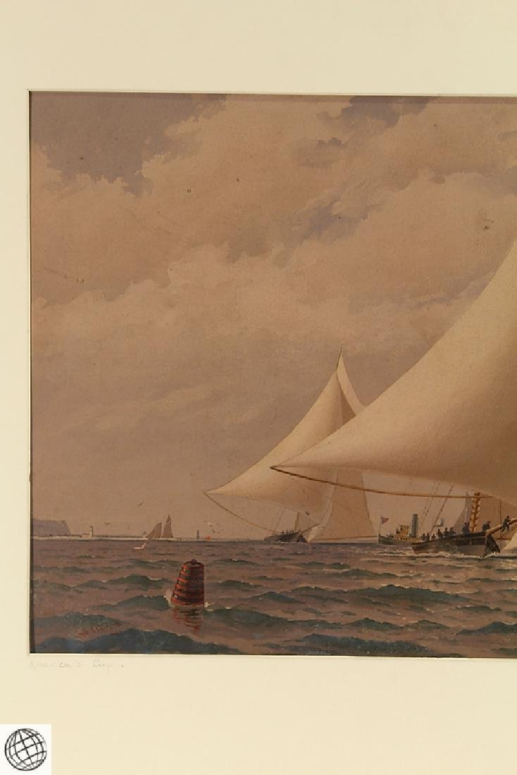 America's Cup FREDERIC S. COZZENS Color Lithograph - 3