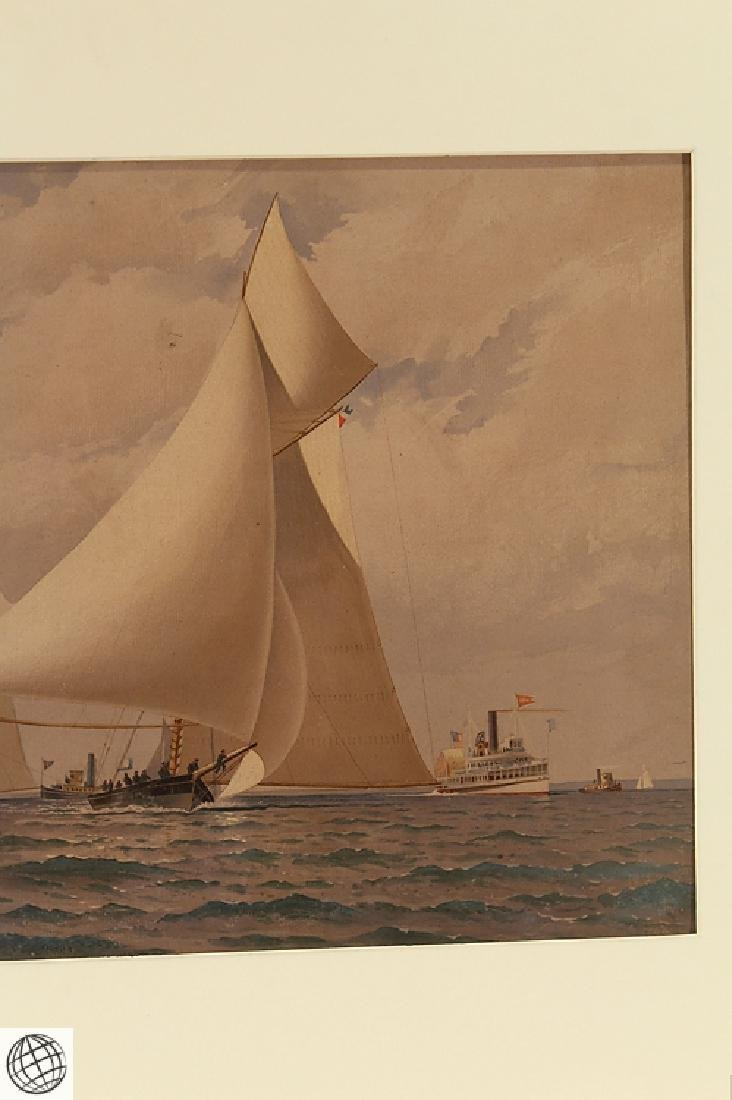 America's Cup FREDERIC S. COZZENS Color Lithograph - 4