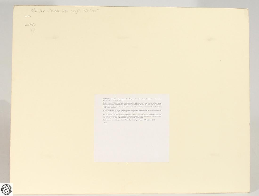 America's Cup FREDERIC S. COZZENS Color Lithograph - 6