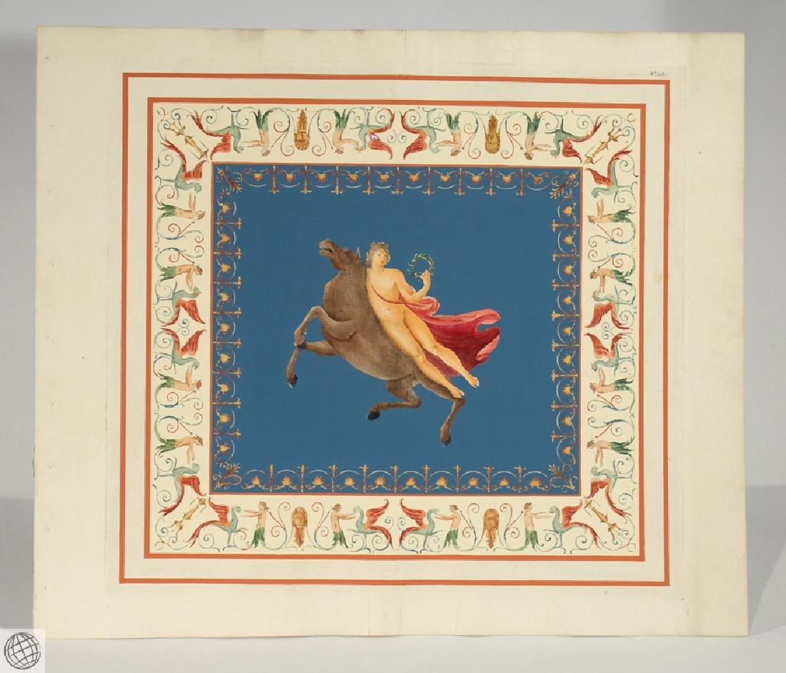 Engraving Domus Aureus Fresco MARCO CARLONI Smugliewicz