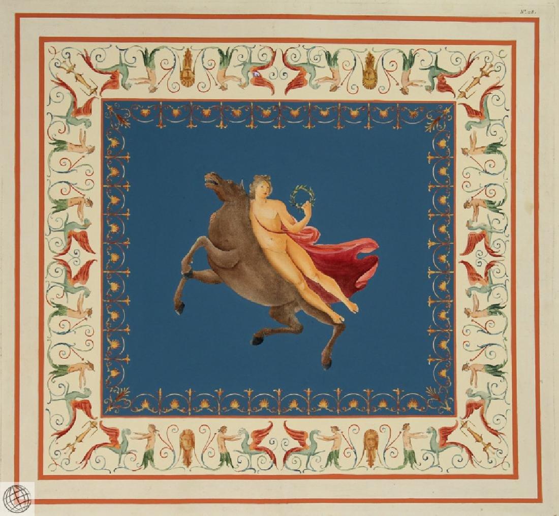 Engraving Domus Aureus Fresco MARCO CARLONI Smugliewicz - 2