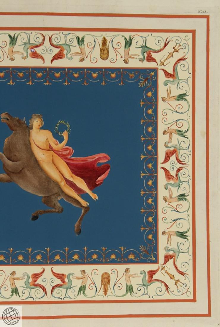 Engraving Domus Aureus Fresco MARCO CARLONI Smugliewicz - 4