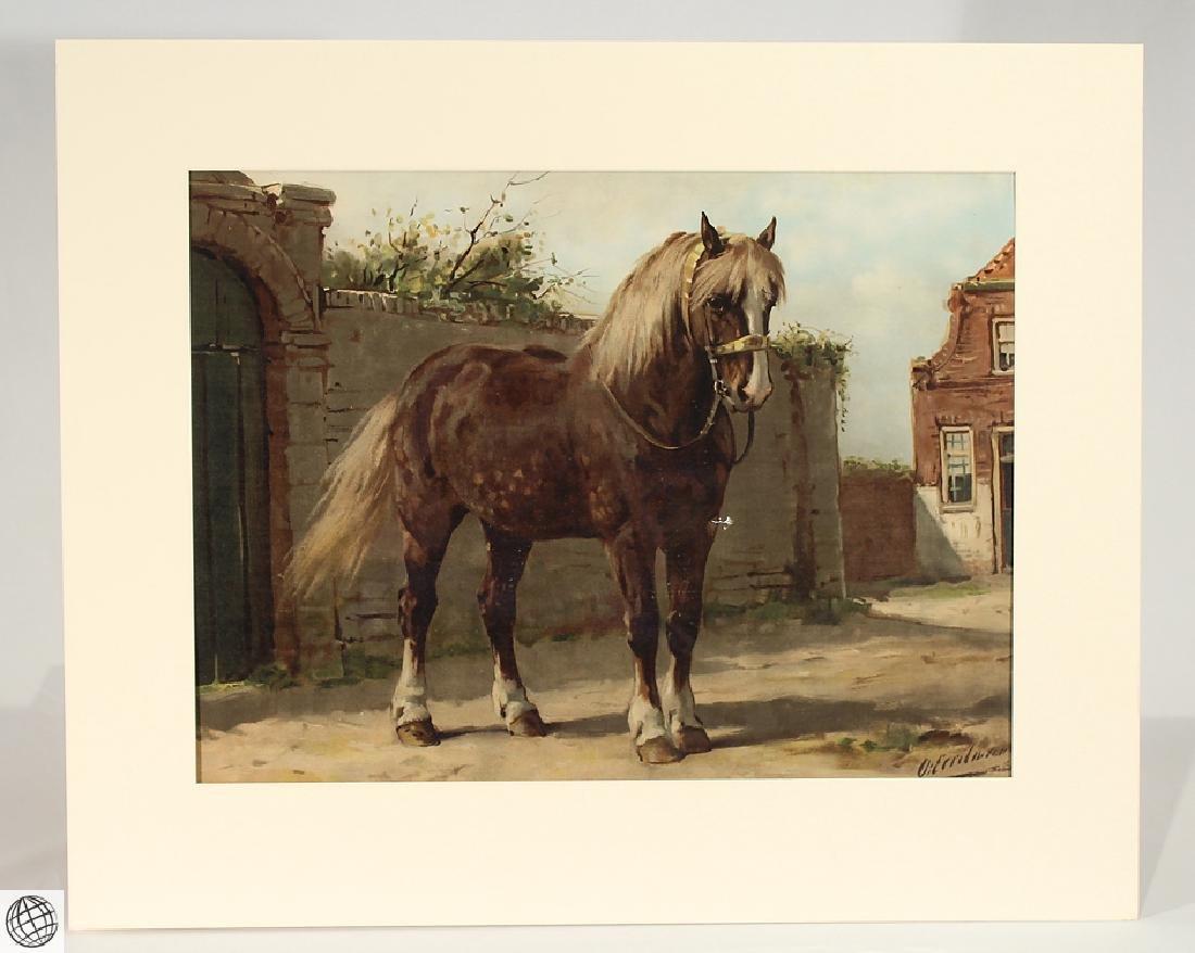 Zeeland Horse OTTO EERELMAN Color Lithograph Goffart