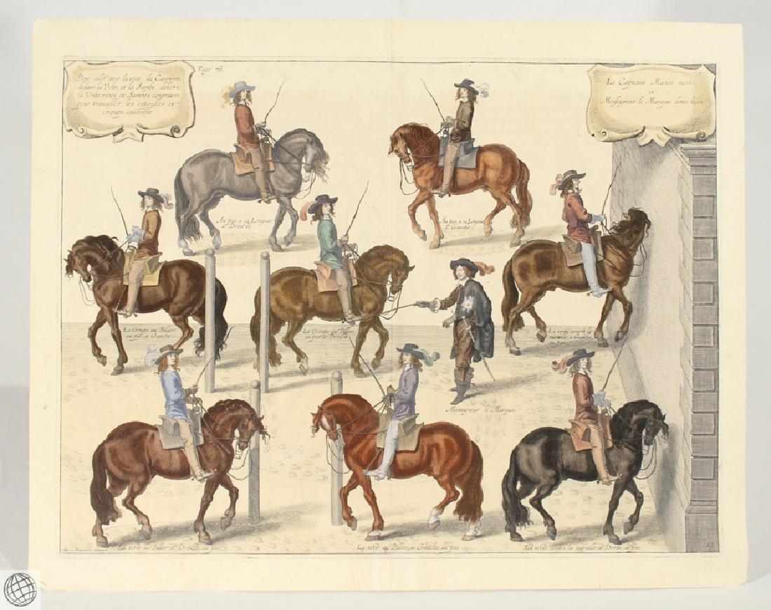 Cavesson Horse NEWCASTLE Duke Of Cavendish 1743 Copper