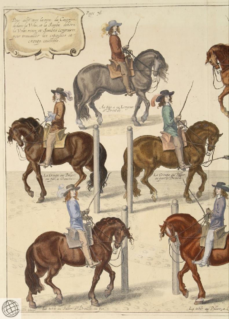 Cavesson Horse NEWCASTLE Duke Of Cavendish 1743 Copper - 2