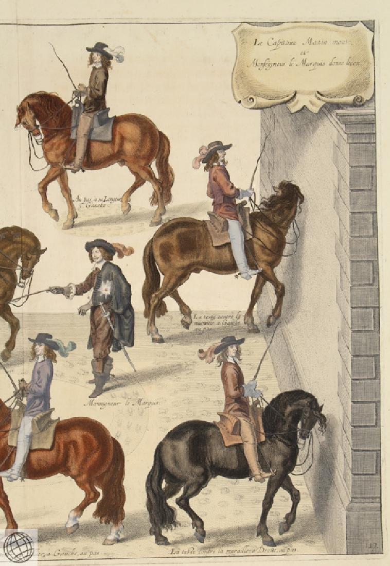 Cavesson Horse NEWCASTLE Duke Of Cavendish 1743 Copper - 3