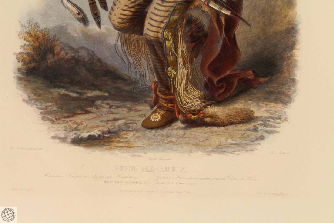 Moennitarri Warrior KARL BODMER Hand Colored Aquatint - 5