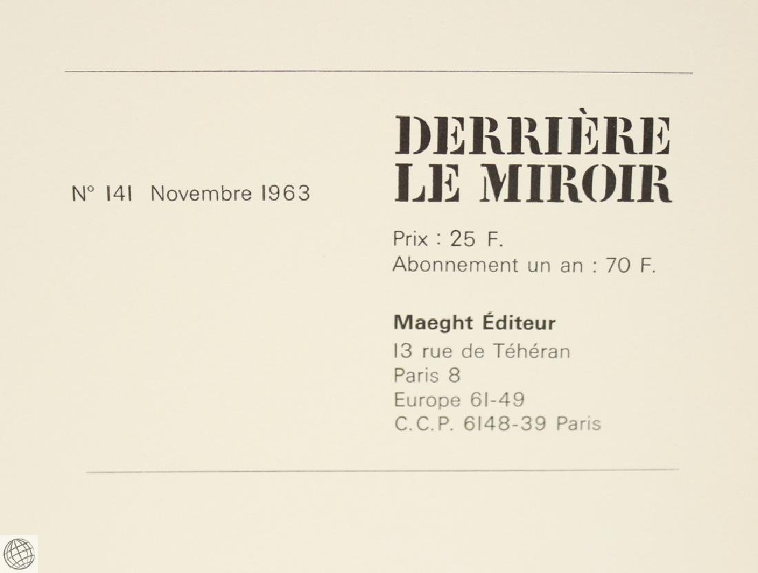 Derriere Le Miroir CALDER No. 141 Nov 1963 Original - 2