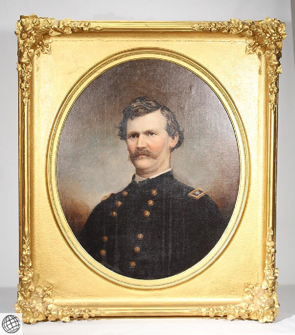 Civil War Portrait CAPTAIN RALPH PHILBROOK Oil Canvas