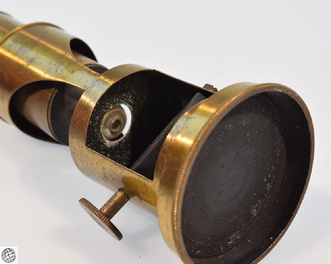 19th Century BRASS DRUM MICROSCOPE Field Mahogany Case - 5