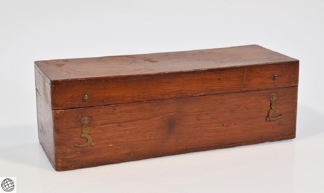 19th Century BRASS DRUM MICROSCOPE Field Mahogany Case - 9