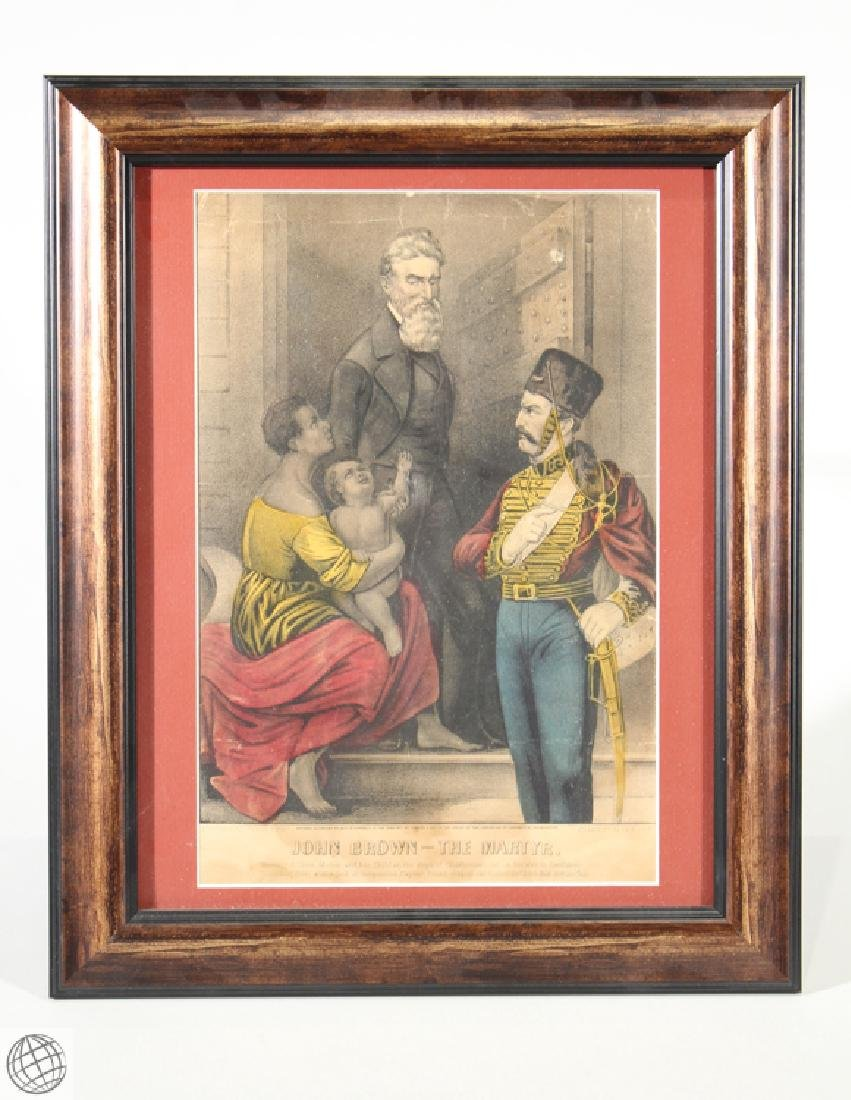 John Brown The Martyr CURRIER & IVES LITHOGRAPH Hand