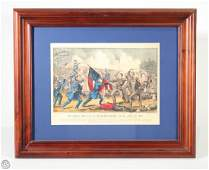 Murfreesboro CURRIER  IVES Original Hand Colored