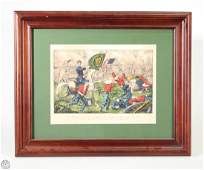 Corcoran Bull Run CURRIER  IVES Original Hand Colored