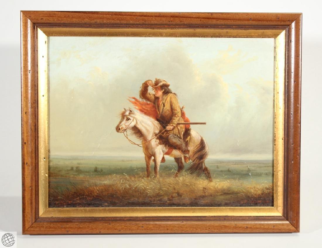 Lost On The Prairie LOUIS WAGNER 1877 Original Antique