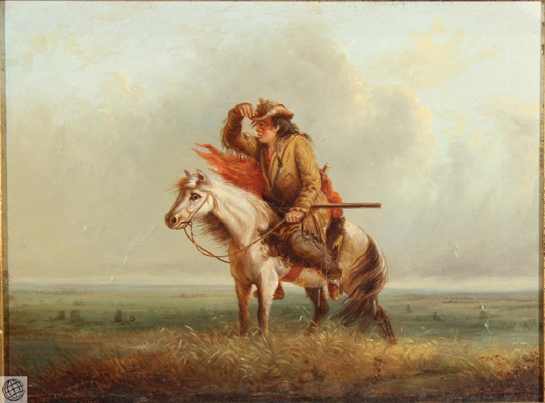 Lost On The Prairie LOUIS WAGNER 1877 Original Antique - 2