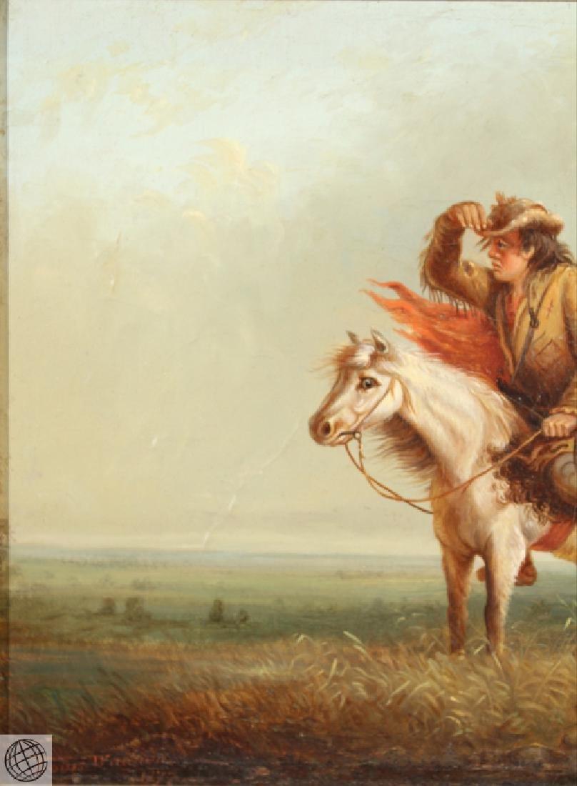 Lost On The Prairie LOUIS WAGNER 1877 Original Antique - 3