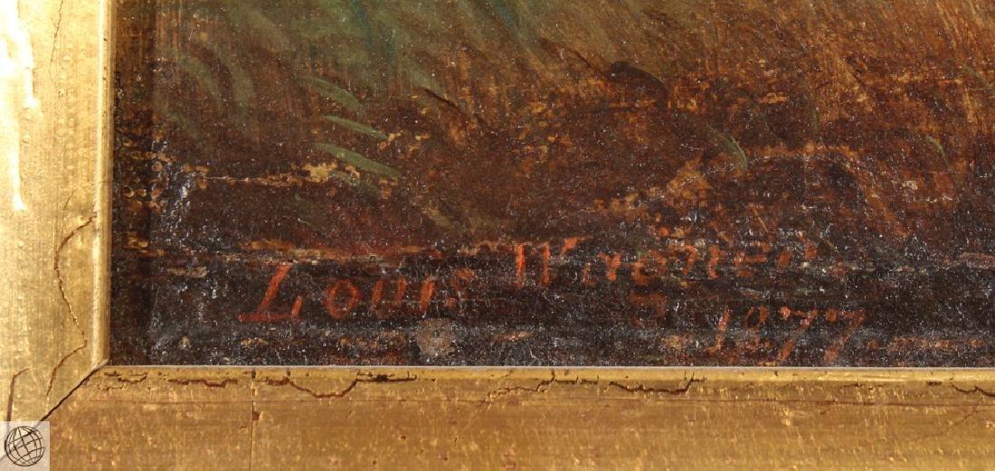 Lost On The Prairie LOUIS WAGNER 1877 Original Antique - 6