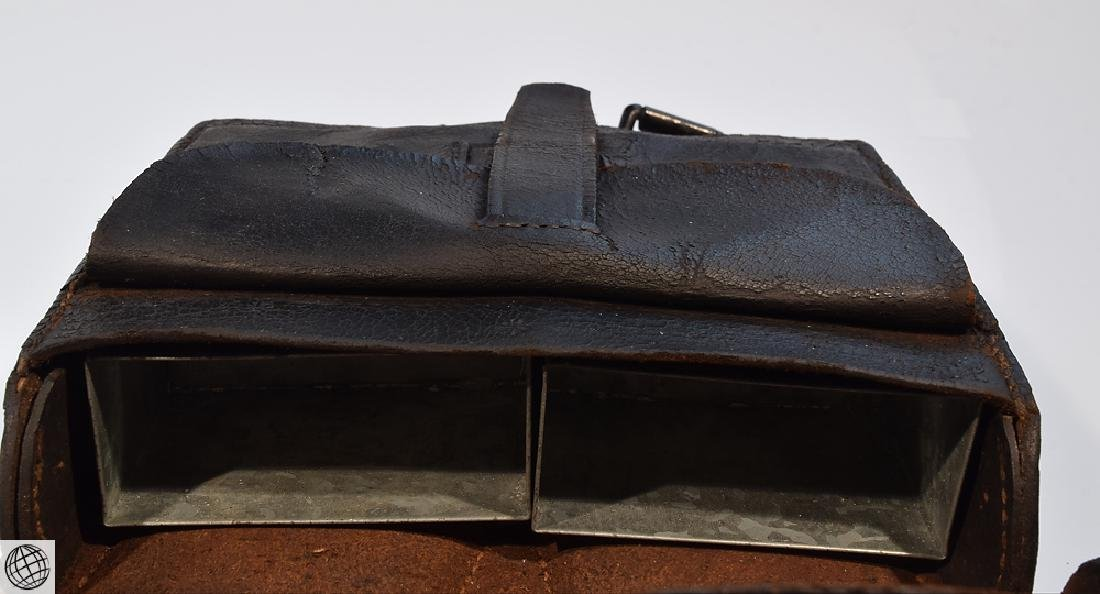 2Pcs Civil War CARTRIDGE BOX Stamped Leather - 5