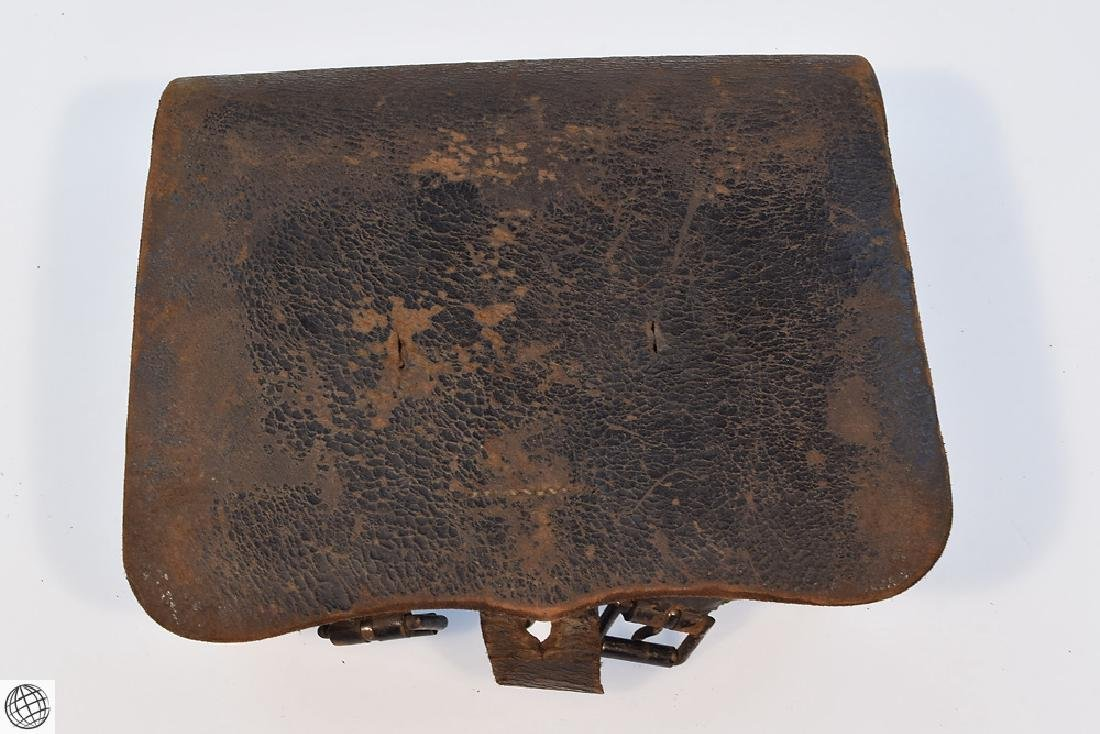 2Pcs Civil War CARTRIDGE BOX Stamped Leather - 6