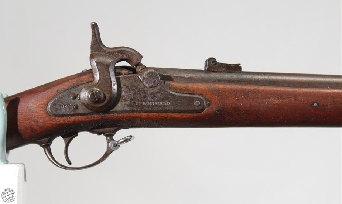 "Model 1861 SPRINGFIELD PERCUSSION RIFLED MUSKET 40"" Bbl - 3"
