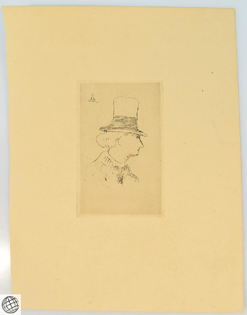 Profile Charles Baudelaire EDOUARD MANET Original