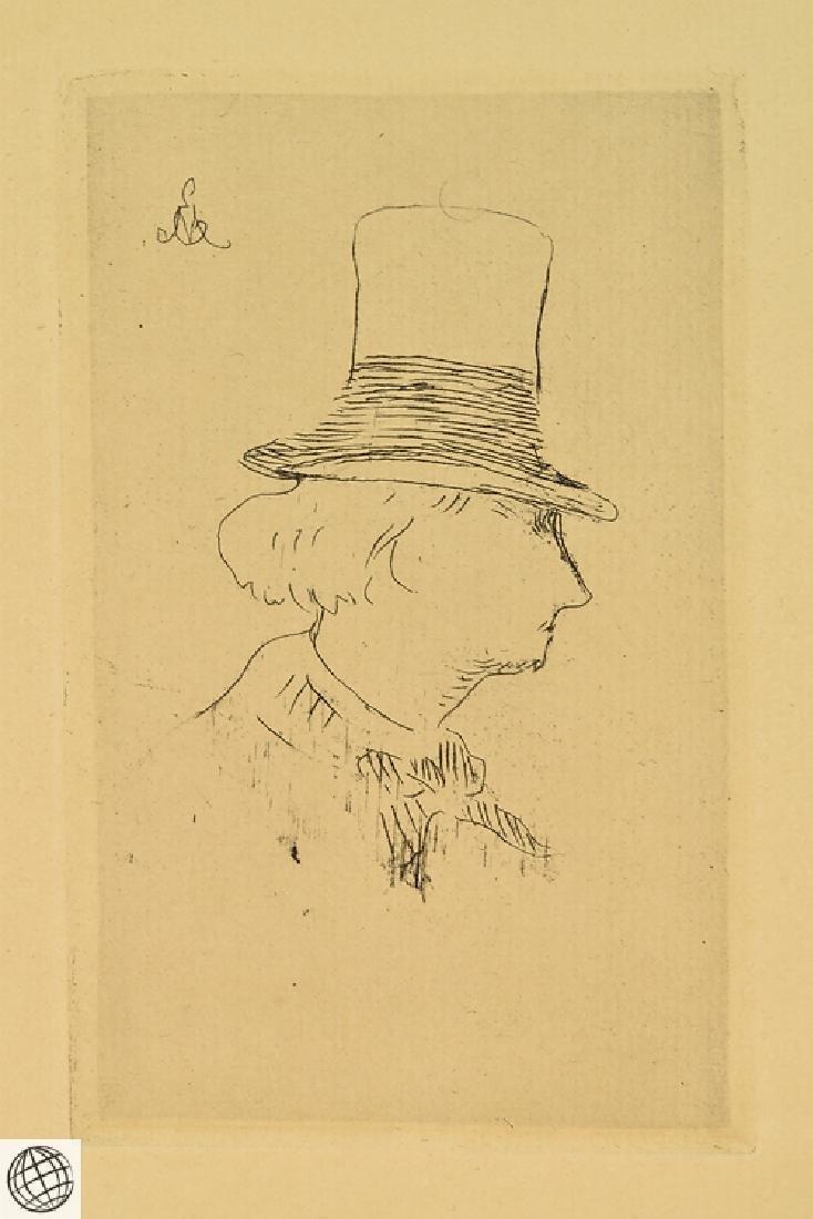 Profile Charles Baudelaire EDOUARD MANET Original - 2
