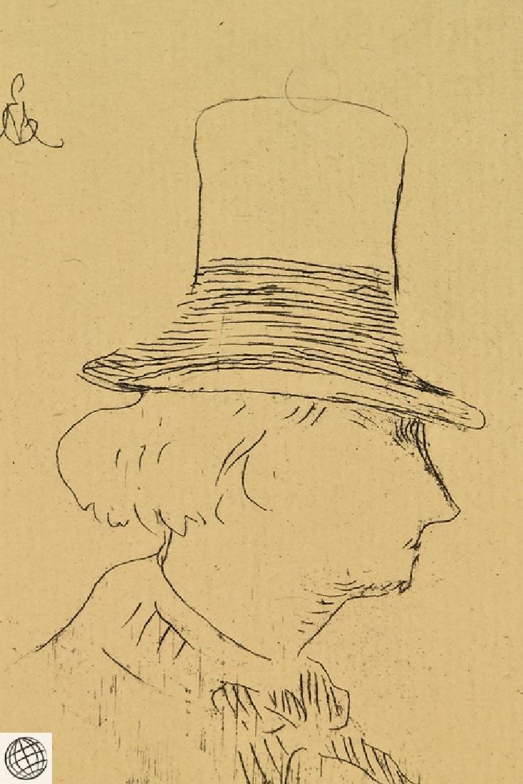 Profile Charles Baudelaire EDOUARD MANET Original - 3