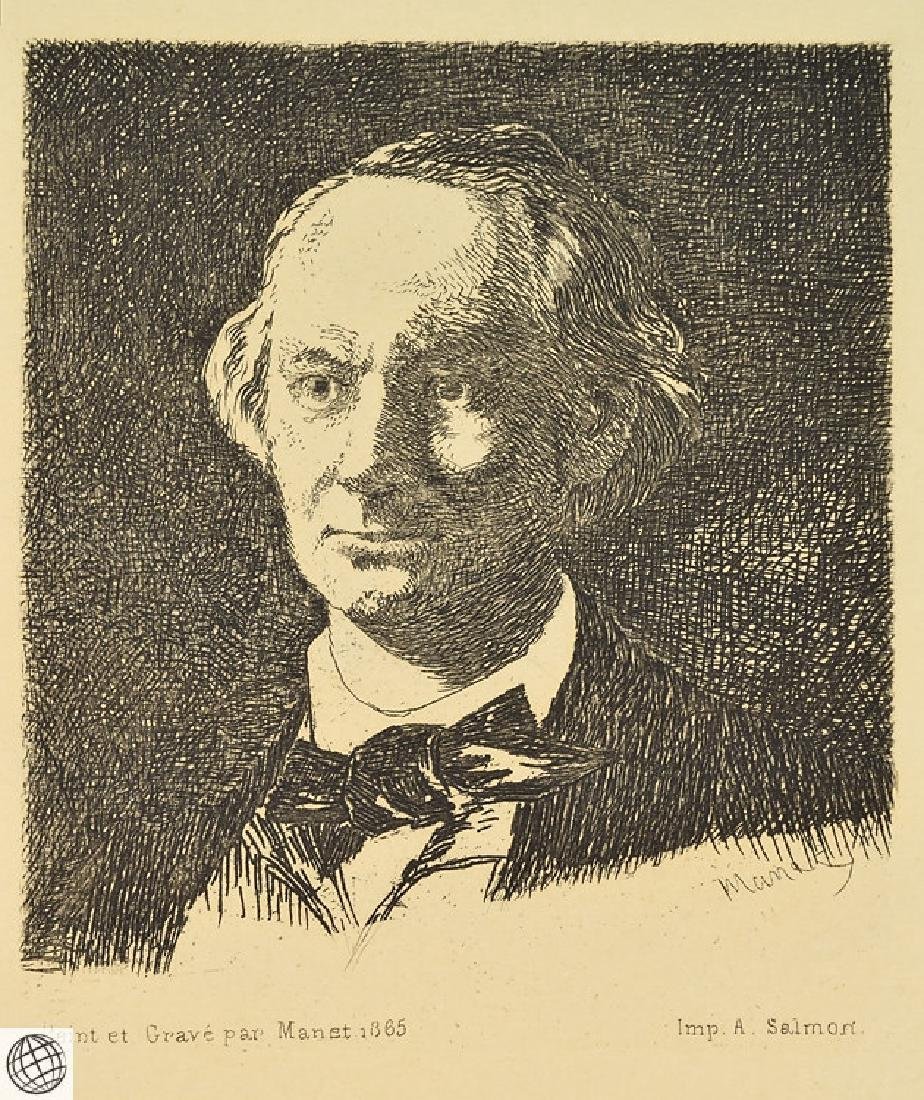 Charles Baudelaire EDOUARD MANET Plate Signed 1865 - 2