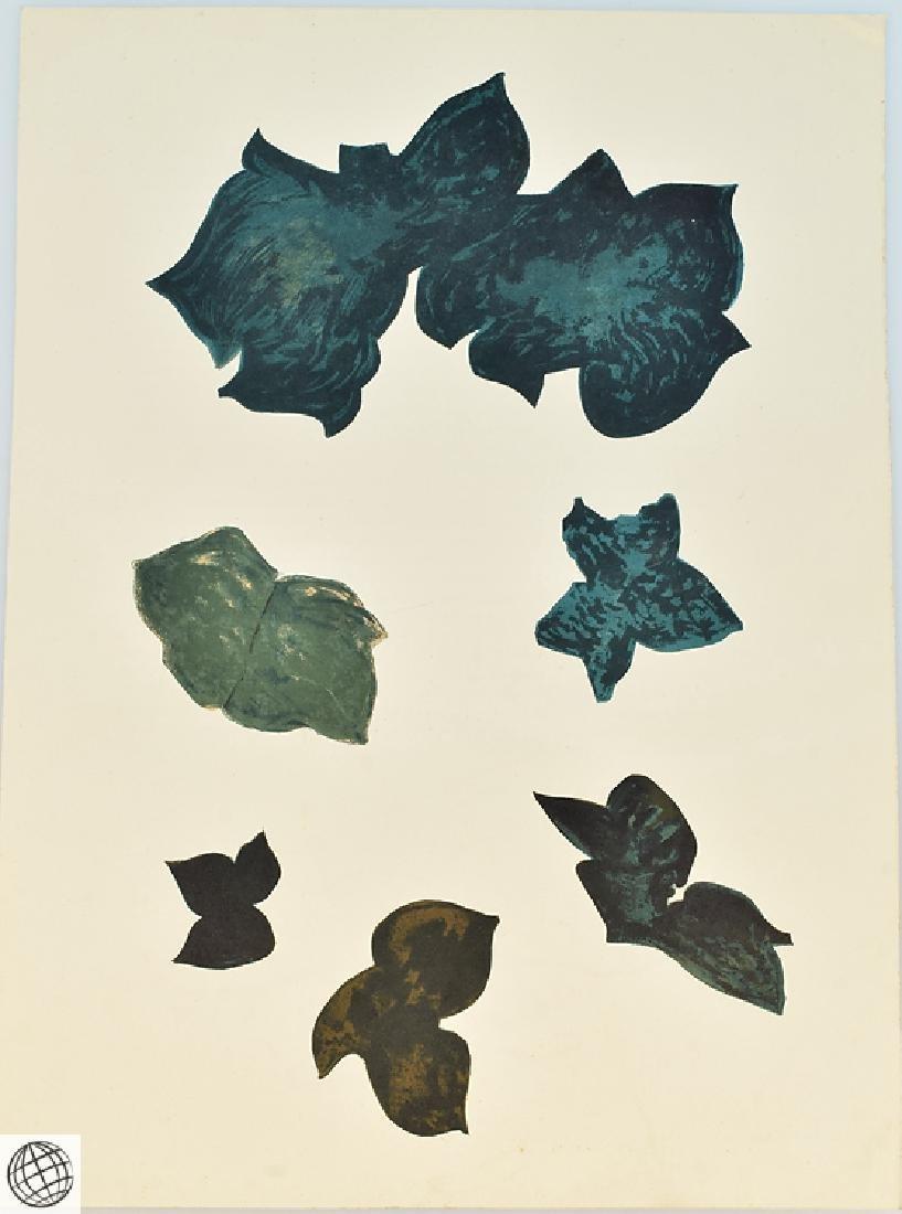 5Pcs Original Stone Lithographs GEORGES BRAQUE Vintage - 4