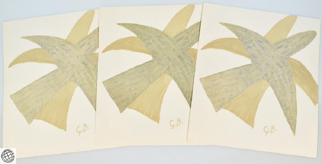5Pcs Original Stone Lithographs GEORGES BRAQUE Vintage - 8