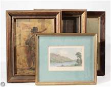 4Pcs Currier  Ives L Buck Nicol ANTIQUE IRELAND ART