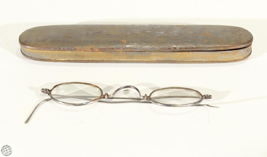 10Pcs Civil War Era ANTIQUE EYEGLASSES AND CASES - 2