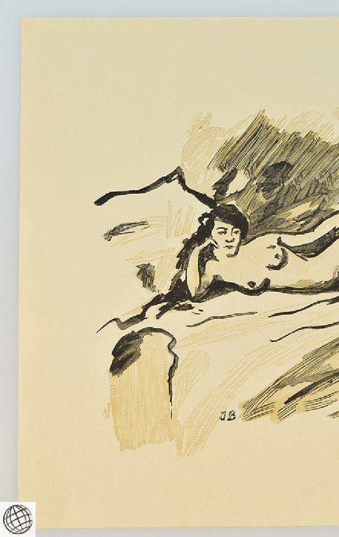 Olympia Alfred Prunaire EDOUARD MANET Original Antique - 3