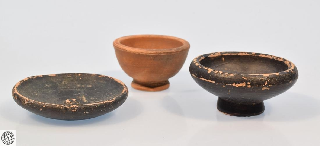 11Pcs Greco-Roman ANCIENT POTTERY Spice Bowls Plates - 5