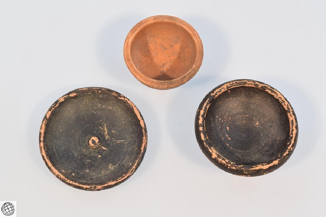 11Pcs Greco-Roman ANCIENT POTTERY Spice Bowls Plates - 6