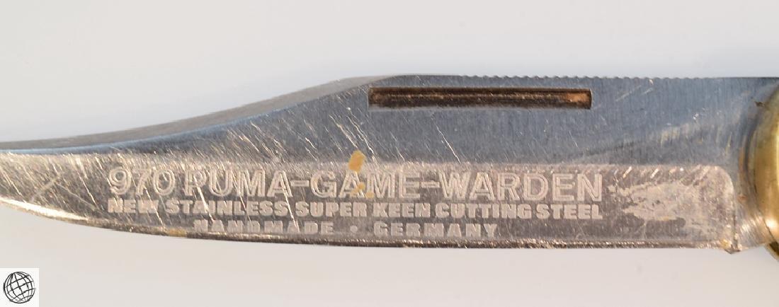 "Vintage 970 Puma-Game-Warden LOCKBACK HUNTING KNIFE 9"" - 6"