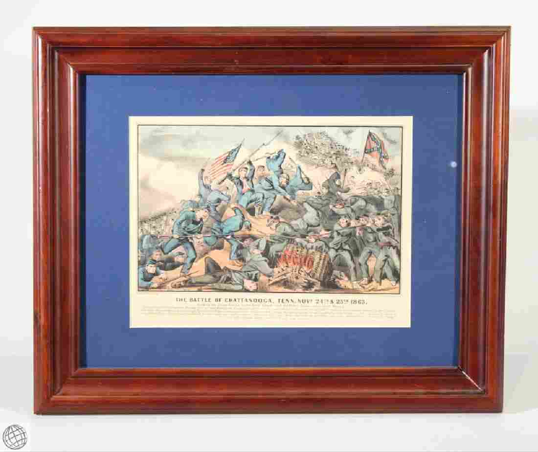 Chattanooga CURRIER & IVES Original Hand Colored