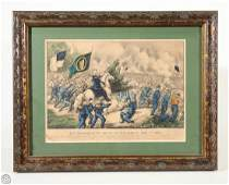Meagher Fair Oaks CURRIER & IVES Original Hand Colored