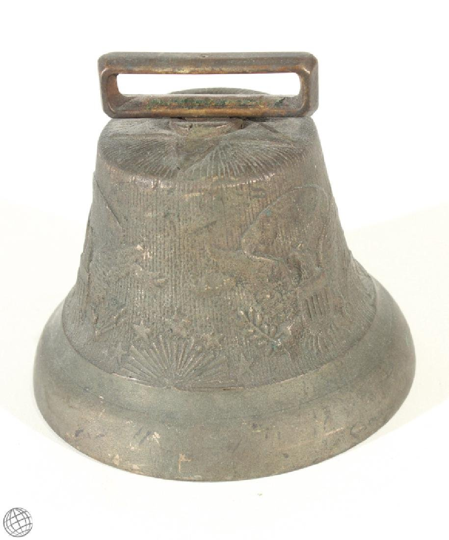 Rare US Army Cavalry CAMEL CORP BELL Brass Horse Eagle