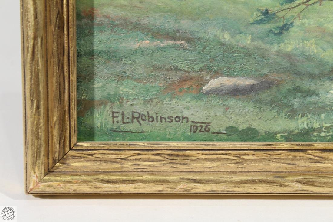 Winthrop Maine F.L. ROBINSON 1926 Original Oil Board - 5